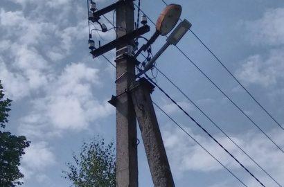 Завершені роботи по вуличному освітленню в селі Тихоновичі