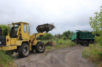 Проведена робота по ліквідації несанкціонованого сміттєзвалища поблизу с. Гвоздиківка