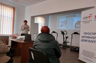У Сновській громаді відбувся спортивний тренінг для людей поважного віку